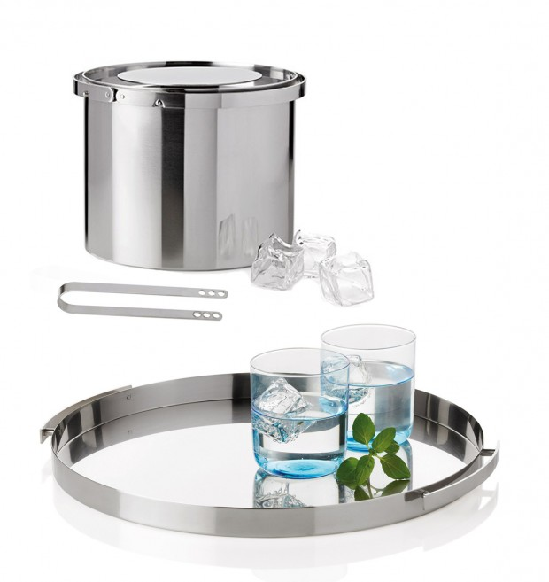 Cylinda line Ice Bucket, Tongs, and Tray