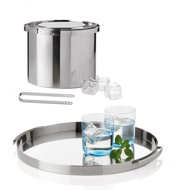 Cylinda line Ice Bucket, Tongs, and Tray